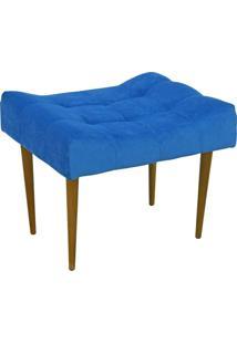 Puff Requinte Capiton㪠Banqueta Pã©S Palito 679 Lyam Decor Azul Royal - Azul/Dourado - Dafiti