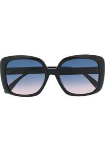 Gucci Eyewear Óculos De Sol Quadrado Oversized - Preto