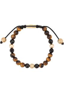 Nialaya Jewelry Faceted Stone Bracelet - Marrom