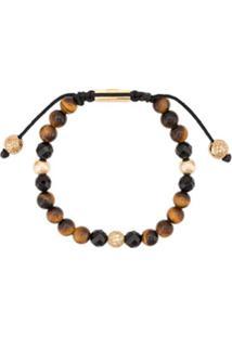 Nialaya Jewelry Faceted Stone Bracelet - Marrom