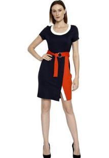 Vestido Energia Fashion Plus Size Manga Curta - Feminino