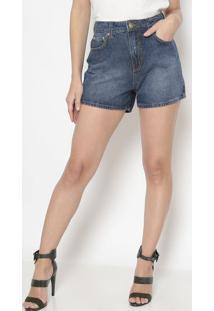 Short Jeans Estonado- Azul Escuro- Sommersommer