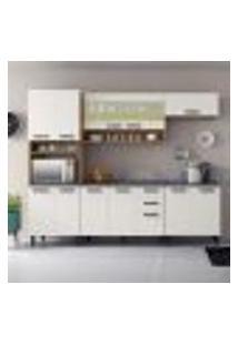 Cozinha Compacta New Jazz V 11 Pt 2 Gv Off White E Freijó