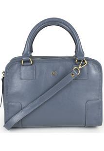 Bolsa Balaia Claire Em Couro Azul Jeans