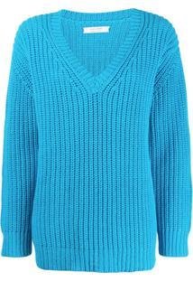 Chinti And Parker Suéter Decote Em V - Azul