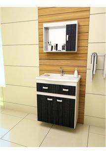 Gabinete Para Banheiro Carrara - Ebano