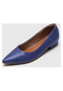 Scarpin Usaflex Lezard Azul-Marinho