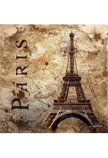 Quadro Impressão Digital Paris Torre Eiffel I Bege 30X30Cm Uniart