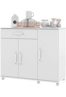 Armário De Cozinha 3 Portas 1 Gaveta 02700 Branco - Ej Móveis