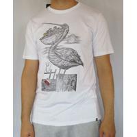 Camiseta Silk Swiped Hurley - Masculino-Branco 2c55cf46bad
