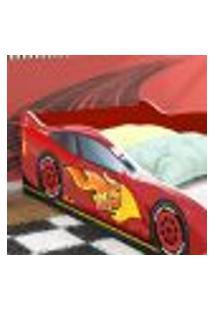 Mini Cama Carro Super Turbo 85 - Vermelho - Rpm Móveis