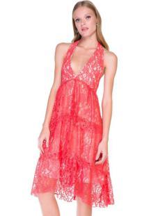 79ad8a43 Vestido Coral Frente Unica feminino | Shoelover