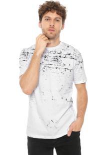 Camiseta Rovitex Estampada Branca/Preta