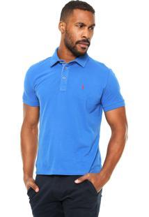 Camisa Polo Sergio K Slim Azul