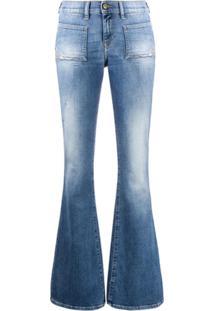 Diesel Calça Jeans Bootcut D-Ebbey - Azul