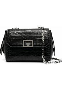 Givenchy Bolsa Transversal Com Placa De Logo - Preto