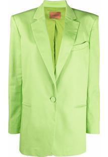 The Andamane Blazer Com Abotoamento Simples - Verde