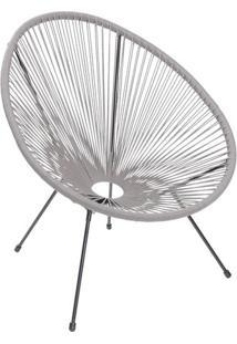 Cadeira Acapulco- Cinza & Preta- 85X69X50Cm- Or Or Design