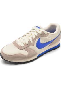 Tênis Nike Sportswear Md Runner Bege/Azul