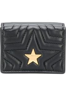 Stella Mccartney Carteira 'Stella Star' Com Logo - Preto
