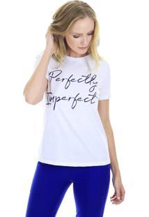 "Camiseta T-Shirt Estampada ""Imperfect"" Branca Aha - Kanui"