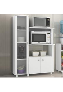 Armário De Cozinha Com Cristaleira 3 Portas Bl3304 Branco - Tecno Mobili