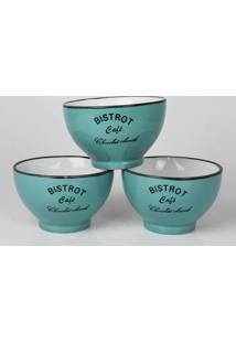 Bowl Bistrot Café Verde Jogo C/3 Tigelas