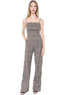 Macacão Calvin Klein Pantalona Príncipe De Gales Xadrez