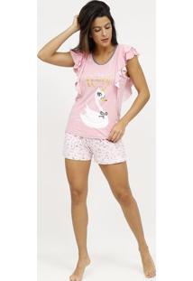 "Pijama ""Make A Wish"" - Rosa Claro & Douradopuket"