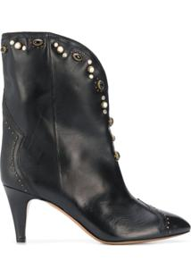 Isabel Marant Dythey 75Mm Embellished Ankle Boots - Preto