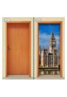 Adesivo Decorativo De Porta - Big Ben - Londres - 1066Cnpt