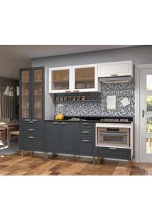 Cozinha Compacta Nevada I 7 Pt 7 Gv Grafite E Branca