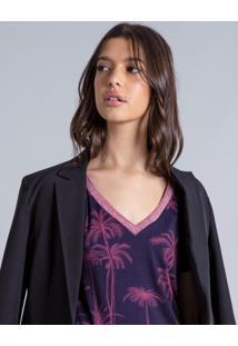Blusa Estampada Decote V Santa Monica - Lez A Lez