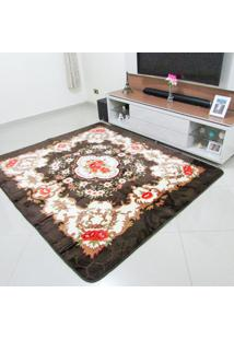 Tapete Aveludado 3D Estampado Dubai Marrom 2,00Mx2,50M Home Têxtil