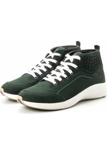 Coturno Tênis Casual Jhon Boots Clássico Verde