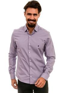 Camisa Bypride Manga Longa Mahdi Lilás