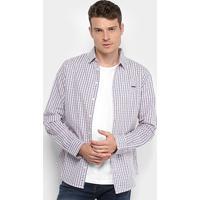 9dd8f5e614 Camisa Colcci Manga Longa Xadrez Slim Masculina - Masculino