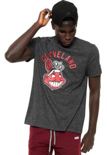 Camiseta New Era Cleveland Indians Mlb Preta