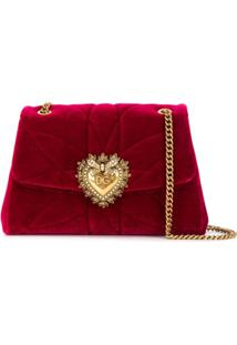 Dolce & Gabbana Bolsa Tiracolo Devotion Grande - Vermelho