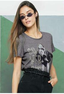 Blusa Cinza Escuro Ampla Cover Girl