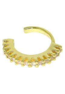 Brinco Infine Piercing Cravejado Micro Zircônias Dourado