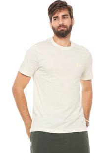 Camiseta Lacoste Regular Fit Off-White