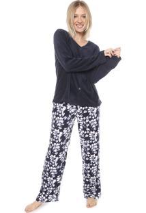 Pijama Any Any Cerejeira Azul-Marinho