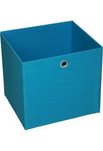 Caixa Organizadora 30Cmx28Cm Acasa Móveis Azul