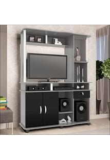 Estante Para Tv Até 32 Polegadas Luxo 3022 Jb Bechara Gris/Preto