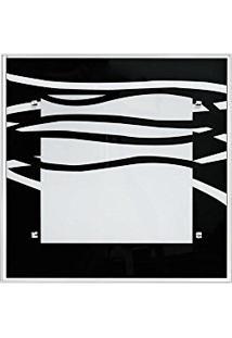Plafon De Embutir No Gesso Para 02 Lâmpadas - 30Cm X 30Cm Ondas Pretas