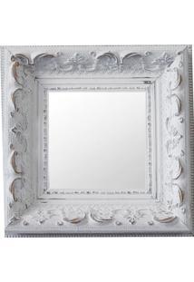 Espelho Moldura Rococó Raso 16166 Branco Patina Art Shop