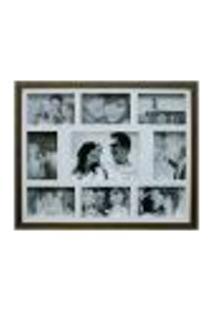 Painel De Fotos Bee Collection 43X53 Rustics 8 Fotos 10X15 E 1 Foto 15X21 Imbuia Kapos