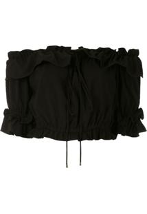 Olympiah Blusa Cropped Laurier - Preto