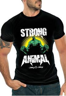 Camiseta Manga Curta Jay Jay Strong Animal Preta